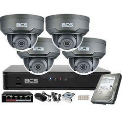 Monitoring wideo audio kasy stacji paliw sklepu BCS Point Rejestrator IP + 4x Kamera BCS-P-212RWSA-G + Akcesoria