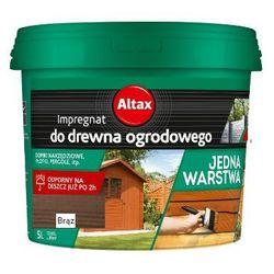 ALTAX- impregnat do drewna ogrodowego, brąz, 5 l