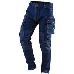 Spodnie robocze DENIM wzmocnienia na kolanach rozmiar L 81-228-L
