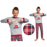 Piżamy dziecięce, Piżama dziecięca DENIS: szary/czerwony
