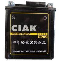 Akumulatory do motocykli, Akumulator motocyklowy CIAK YTX7L-BS 12V 7Ah 100A P+