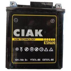 Akumulator motocyklowy CIAK YTX7L-BS 12V 7Ah 100A P+