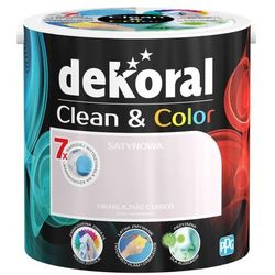 Satynowa farba lateksowa Dekoral Clean&Color himalajski cukier 2 5 l