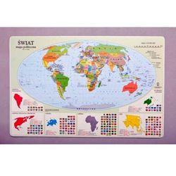 Podkładka na biurko - Mapa polityczna Świata