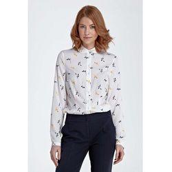 Bluzka Koszulowa z Okrągłym Kołnierzykiem - Gałązka