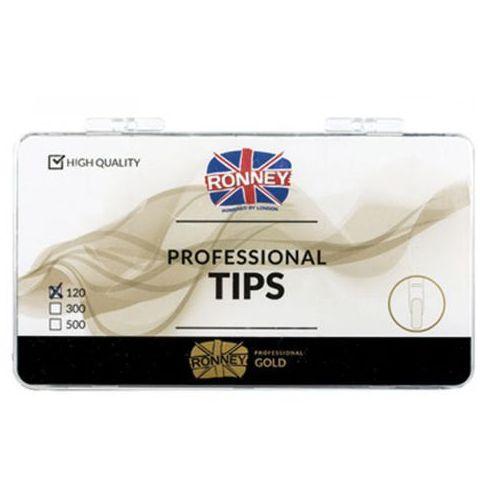 Tipsy, Ronney PROFESSIONAL TIPS CLAWS CREAM Tipsy szpony z dużą kieszonką, kremowe (120 szt.)