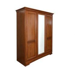 Szafa z lustrem LAUREL - dł.178 cm - 3 drzwi - Dekor z dzikiej wiśni
