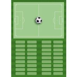 Tablica taktyczna trenerska piłka nożna 393 magnetyczna suchościeralna