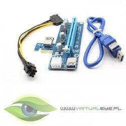 Qoltec Riser PCi-E 1x-16x | USB 3.0 | SATA/PCI-E 6pin