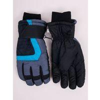 Odzież do sportów zimowych, Rękawiczki narciarskie męskie grafitowe deseń 22
