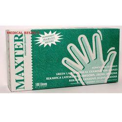Rękawice lateksowe pudrowane MIĘTOWE Maxter a 100szt. XS