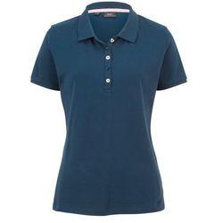 Shirt polo z bawełny pique bonprix ciemnoniebieski