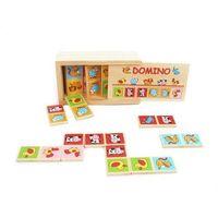 Zabawki z drewna, Drewniane domino - Zwierzęta