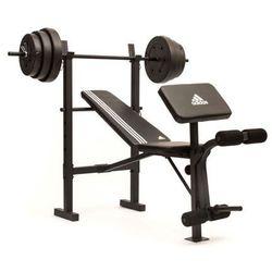 ADIDAS ADBE-10349 - Ławka treningowa ze sztangą 45 kg