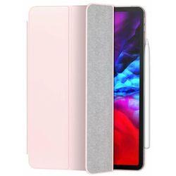 Baseus Simplism Magnetic Leather   Magnetyczne etui książkowe pokrowiec case stojak do iPad Pro 11'' (2020)   różówy - Różowy