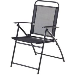 Krzesło ogrodowe czarne aluminiowe składane LIVO