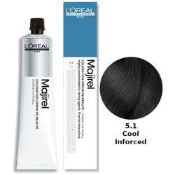 Loreal Majirel Cool Inforced | Ochładzająca kolor trwała farba do włosów - kolor 5.1 50ml