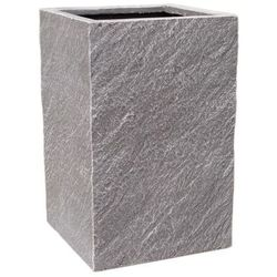 Donica kompozytowa Cermax kwadrat 24 x 24 x 38 cm ciemny grafit