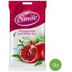 SMILE Chusteczki nawilżane Daily Pomergranate & White Tea 13 x 15 szt.