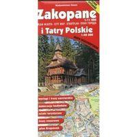 Mapy i atlasy turystyczne, Zakopane i Tatry Polskie. Plan miasta, mapa turystyczna. Wodoodporna. 1:11 000, 1:40 000 Gauss (opr. broszurowa)