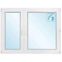 Okno PCV rozwierno-uchylne + rozwierne trzyszybowe 1465 x 1135 mm lewe