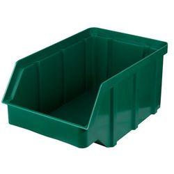 Plastikowy pojemnik warsztatowy - wym. 118 x 78 x 56 - kolor zielony
