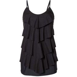 Wyszczuplająca sukienka kąpielowa bonprix czarny