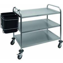 Pojemnik na śmieci do wózka kelnerskiego AB 2 | 2 x 8L | 420x290x(H)450mm