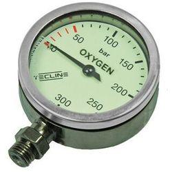 Manometr TecLine O2 300 bar 52 mm, chrom - głowica