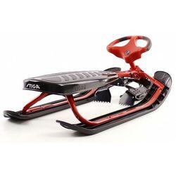 Nartosanki STIGA SNOWRACER ULTIMATE PRO czerwone - kierownica i hamulec