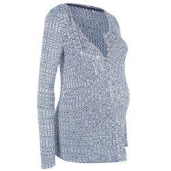Lekki sweter ciążowy i do karmienia piersią bonprix indygo melanż