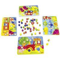 Gry dla dzieci, Gra rodzinna lub układanka kolorowe kostki 2 w 1