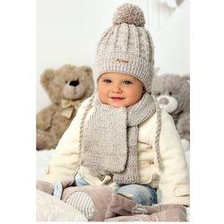 Komplet ajs 40-416 czapka+szalik rozmiar: 44-46cm, kolor: wielokolorowy, ajs