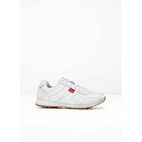 Damskie obuwie sportowe, Sneakersy skórzane bonprix biały