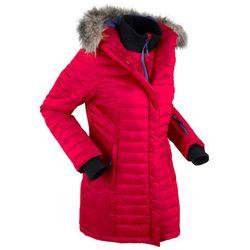 Długa kurtka outdoorowa pikowana bonprix ciemnoczerwony