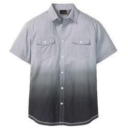 Koszula z krótkim rękawem w cieniowanym kolorze Slim Fit bonprix jasnoszary