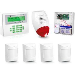 Zestaw alarmowy SATEL Integra 24, Klawiatura LCD, 4 czujniki, sygnalizator zewnętrzny