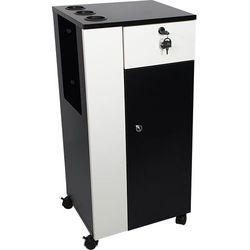 Mobilna szafka pomocnik kosmetyczna na kółkach Czarno Biała