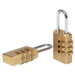 Kłódka szyfrowa Smith & Locke mosiądz 21 mm 2 szt.