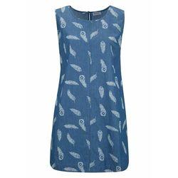 Sukienka dzianinowa z aplikacją ze sztrasów bonprix jasnobrązowy