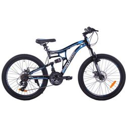 "MOUNTAIN FULL 24"" 2XT FD/RD black/blue"
