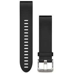 Garmin fenix 5S Silicone Bracelet QuickFit 20mm, black 2019 Akcesoria do zegarków Przy złożeniu zamówienia do godziny 16 ( od Pon. do Pt., wszystkie metody płatności z wyjątkiem przelewu bankowego), wysyłka odbędzie się tego samego dnia.