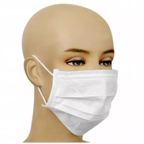 Maseczki i przyłbice ochronne, Maska ochronna wielorazowa - trójwarstwowa z certyfikatem 5szt. + płyn do dezynfekcji zestaw