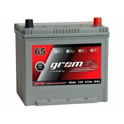 Akumulator GROM EFB START&STOP 65Ah 670A Japan Prawy Plus DTR
