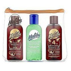 Malibu Bronzing Tanning Oil SPF4 zestaw dla kobiet