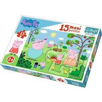 Puzzle, Puzzle Baby 15 elementów Maxi - Peppa w ogrodzie - DARMOWA DOSTAWA OD 199 ZŁ!!!