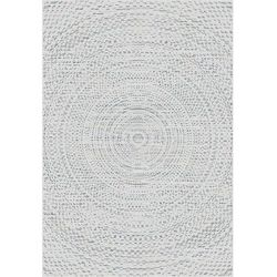 Dekoria Dywan Breeze Circles wool/cliff grey 200x290cm, 200 × 290 cm