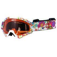 Kaski i gogle, Dziecięce gogle narciarskie snowboardowe WORKER Sterling z grafiką, Z12-ŻÓŁTY-żółta grafika