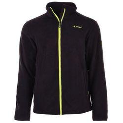 Bluza polarowa męska Hi-Tec Nenan - black/lime punch hi-tec nowe wiosna (-45%)