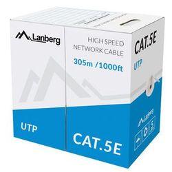 Lanberg kabel utp kat.5e 305m linka cca lcu5-11cc-0305-s - LCU5-11CC-0305-S- natychmiastowa wysyłka, ponad 4000 punktów odbioru!